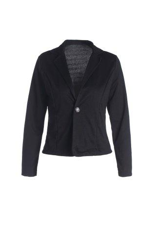 Chic Lapel Neck One Button Plus Size Short Blazer