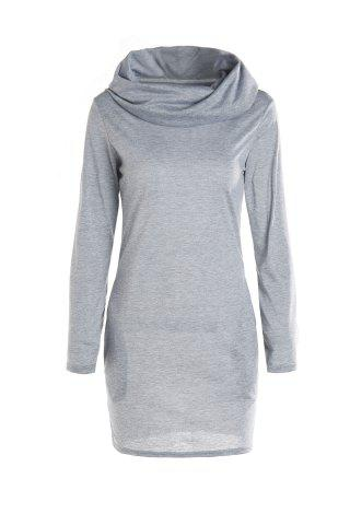 Fancy Long Sleeve Hoodie Sweatshirt Dress