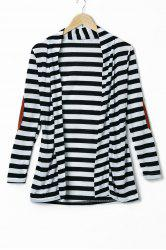 Stylish Long Sleeve Striped Slimming Blouse For Women -