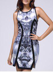 Bodycon Printed Sleeveless Round Neck Women's Dress