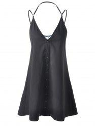 Strappy Long Tank Top - BLACK L