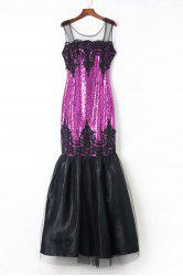 Sequin Sparkly Long Mermaid Prom Evening Dress