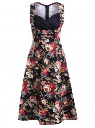 Stunning Plunging Neck Sleeveless Rhched Dress For Women
