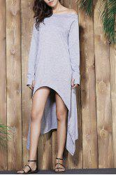 Off The Shoulder High Low Maxi Dress