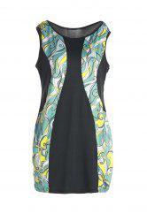 Stylish Sleeveless Abstract Printed Bodycon Plus Size Dress For Women