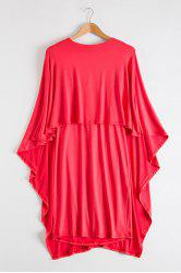 Cape Style Overlay Mini Dress