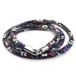Multilayer Tiny Floral Print Wrap Bracelet - PURPLE