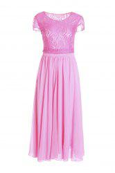 Chiffon Maxi Lace Top Swing Prom Dress