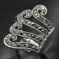 Vintage Rivet Decorated Octopus Ring - SILVER GRAY ONE-SIZE