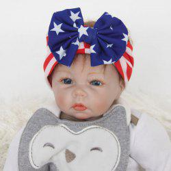 Stylish Toddler Girls Baby American Flag Pattern Bowknot Headband
