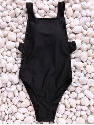 Sexy Straps Solid Color Backless One Piece Swimwear For Women -