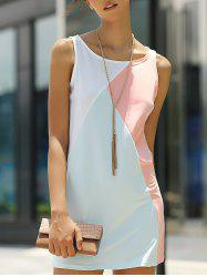Tank Color Block Casual Daytime Dress Outfit -