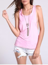 Backless Fropped Armhole Tank Top -