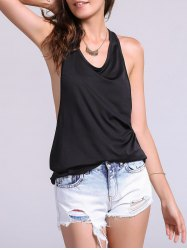 Backless Fropped Armhole Tank Top