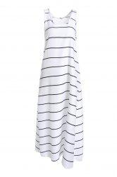 Casual U-Neck Sleeveless Striped Maxi Tank Top Dress For Women -