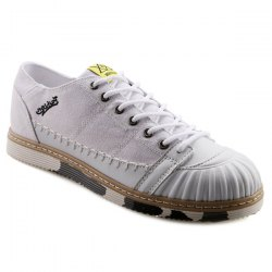 Casual Splicing and White Color Design Canvas Shoes For Men -