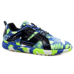 Trendy Hit Colour and Leaf Pattern Design Athletic Shoes For Men -