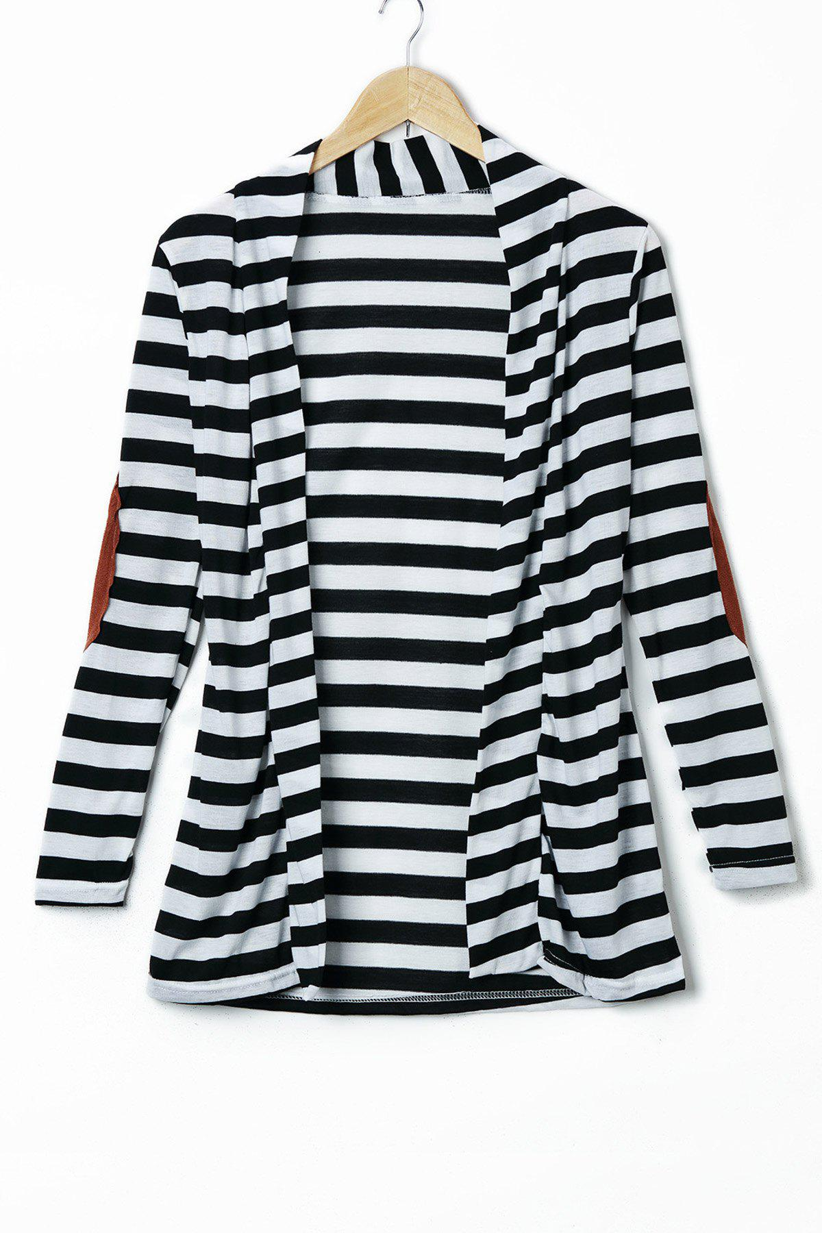 Outfit Stylish Long Sleeve Striped Slimming Blouse For Women