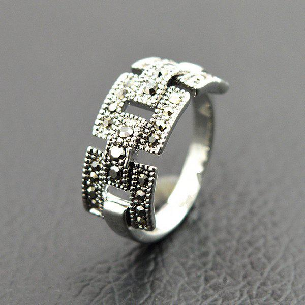 Retro Rivet Hollowed Buckle RingJEWELRY<br><br>Size: ONE-SIZE; Color: SILVER; Gender: For Women; Metal Type: Alloy; Style: Trendy; Shape/Pattern: Others; Diameter: 17MM; Weight: 0.023kg; Package Contents: 1 x Ring;
