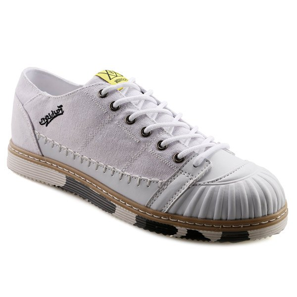 Outfits Casual Splicing and White Color Design Canvas Shoes For Men