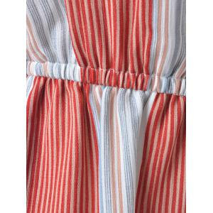 Casual Striped Jumpsuits For Women - BLUE/RED S