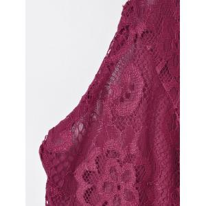 Fashionable Solid Color Lace Tank Top For Women -