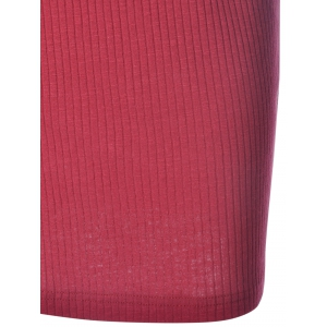 Sleeveless Knotted Bodycon Going Out Dress - WINE RED L