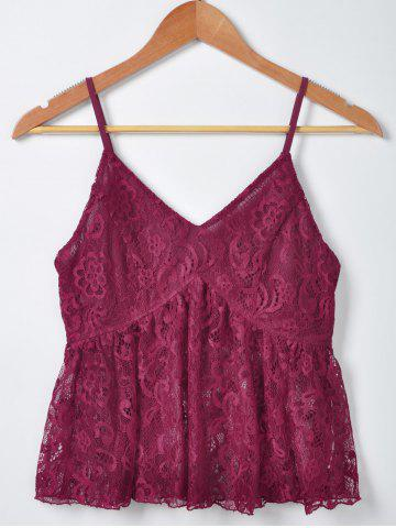 New Fashionable Solid Color Lace Tank Top For Women