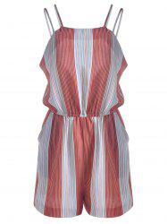 Casual Striped Jumpsuits For Women - BLUE AND RED S