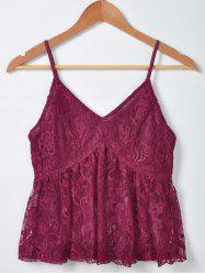 Fashionable Solid Color Lace Tank Top For Women