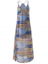 Bohemian Long Striped Spaghetti Strap Dress For Women