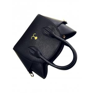 Charming Cat Shape and Solid Color Design Tote Bag For Women - BLACK