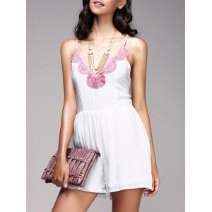 Fashionable Strappy Cross Back Crochet Romper For Women