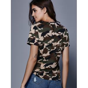 Army Camouflage Print T-Shirt - CAMOUFLAGE XL