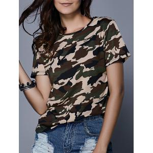 Army Camouflage Print T-Shirt