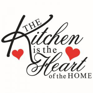 English Quotes Pattern Wall Sticker For Restaurant Kitchen Decoration -