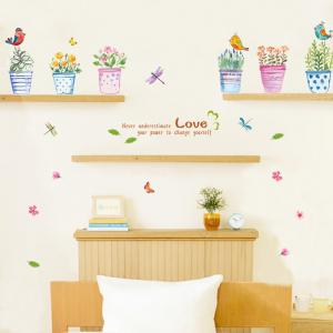 Creative Hand painted Bonsai Pattern Wall Sticker For Bedroom Livingroom Decoration - COLORMIX