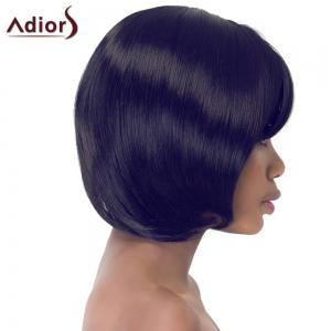 Gorgeous Bob Style Short Straight Side Bang Synthetic Adiors Wig For Women - COLORMIX