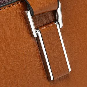 Trendy Zippers and Solid Colour Design Briefcase For Men -