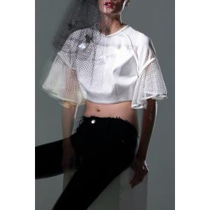 Flounce Sheer Crop Top -