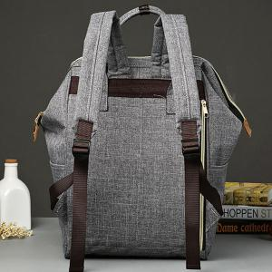 Leisure Zips and Canvas Design Backpack For Men -