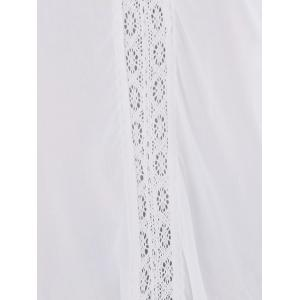 Bohemian Lace Trim Tunic Cover Ups Dress - WHITE ONE SIZE(FIT SIZE XS TO M)