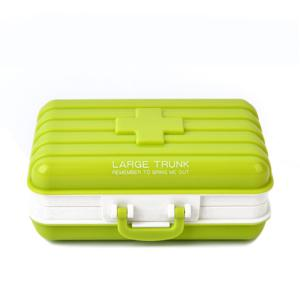 Hot Sale Portable Mini Luggage Shape Candy Color Sealed Medicine Storage Box -