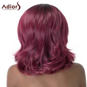 Wave Medium Capless Nobby Purple Mixed Synthetic Adiors Wig For Women -