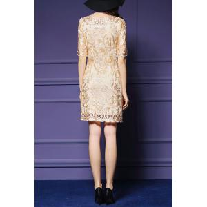 Embroidered Short Dress -