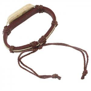 Vintage Faux Leather Rope Bracelets For Women - COFFEE