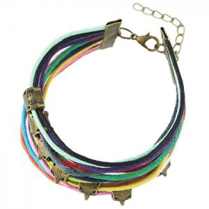Vintage Faux Leather Rope Fox Bracelets - COLORMIX