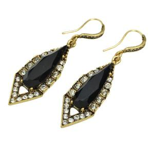 Pair of Vintage Alloy Water Drop Triangle Earrings For Women -
