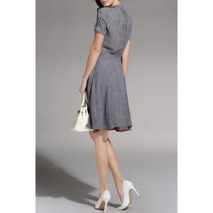 Linen A Line Surplice Dress -
