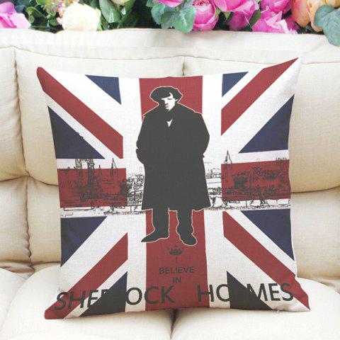 Shop Sherlock Holmes Jack England Flag Pattern Pillowcase (Without Pillow Inner) COLORMIX